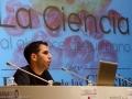 Rubén Lijó presentando Granada: mil años de Ciencia