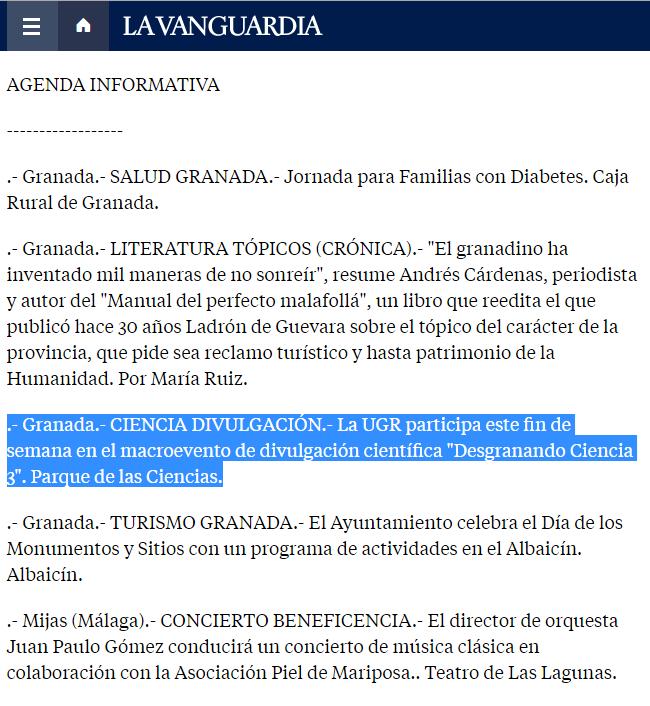 La Vanguardia el 16 de abril de 2016